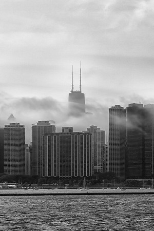 Lakeshore Under Clouds