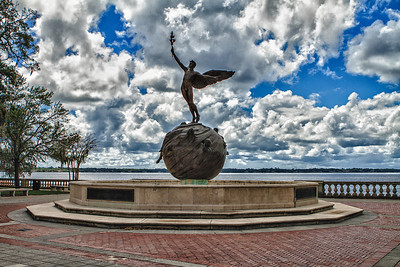 Life statue in Memorial Park.  Riverside/Jacksonville
