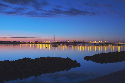 Bridge of Lions at twilight - St Augustine FL