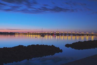 Bridge of Lions at twilight - St Augustine FL