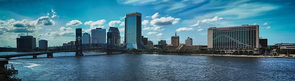 Daytime skyline pano Jacksonville FL