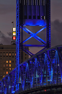 Main St Bridge in Jacksonville FL close up