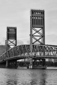 Main St Bridge B/W Jacksonville FL