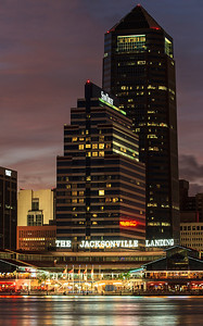 Jacksonville Landing at night
