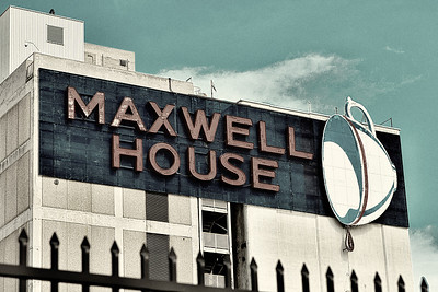 Maxwell House coffee sign in downtown Jacksonville FL