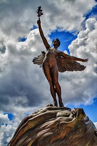 Life statue in Memorial Park close up Riverside/Jacksonville