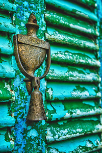 Door knocker on rustic door - St Augustine FL