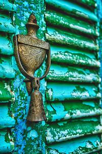 Door knocker on rustic door - St Augustine FL