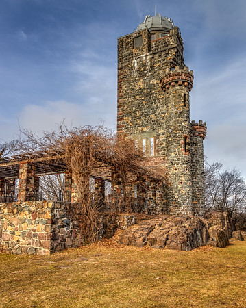 Lambert Tower, a 70 foot observation tower was constructed in 1896 by Catholina Lambert. Located in Garret Mountain Reservation