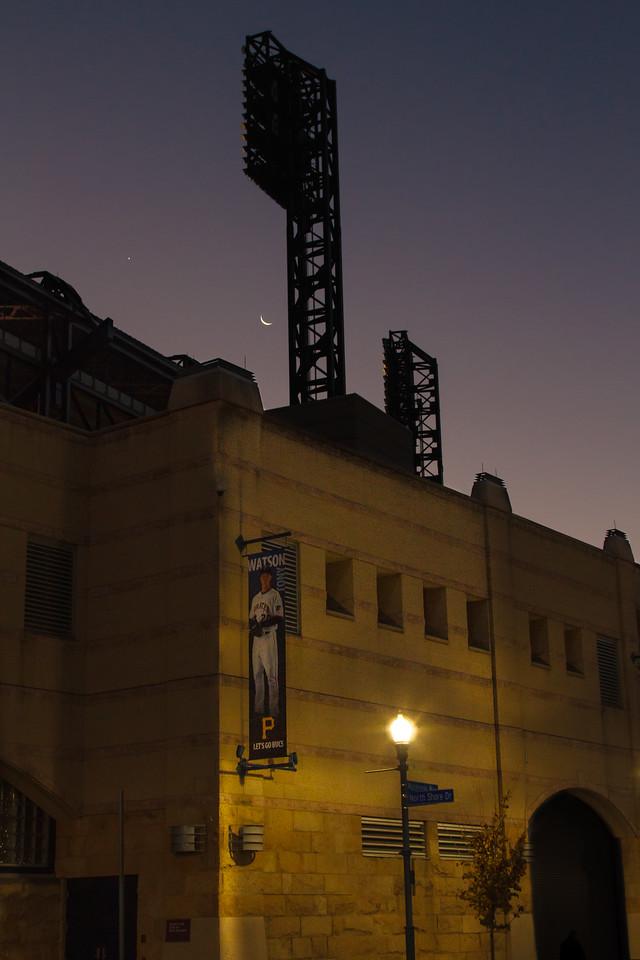 Moon over PNC Park