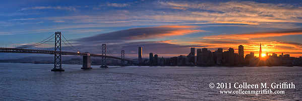 San Francisco Sunset ©  2011 Colleen M. Griffith. All Rights Reserved. This material may not be published, broadcast, modified, or redistributed  without written agreement with the creator.  This image is registered with the US Copyright Office. Friend me on Facebook