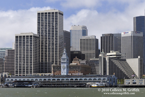 "San Francisco Skyline and The Ferry Building © 2010 Colleen M. Griffith. All Rights Reserved.  This material may not be published, broadcast, rewritten, or modified in any way without permission. <a href=""http://www.facebook.com/colleen.griffith"">Friend Colleen on Facebook</a>"