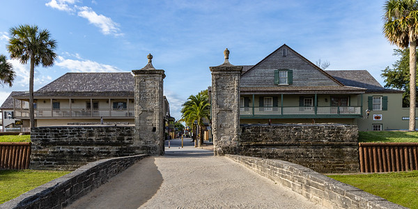 The Old City Gates were at one time the only entrance into St. Augustine. The two ancient columns made of stone were built in 1808 as a line of defense for the city.