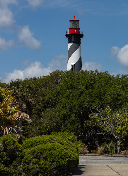 "St. Augustine was the site of the first lighthouse established in Florida by the new, territorial, American Government in 1824. According to some archival records and maps, this ""official"" American lighthouse was placed on the site of an earlier watchtower built by the Spanish as early as the late 16th century.  The St. Augustine Light Station is a private-aid to navigation and an active, working lighthouse in St. Augustine, Florida. The current lighthouse stands at the north end of Anastasia Island and was built between 1871 and 1874. Wikipedia"