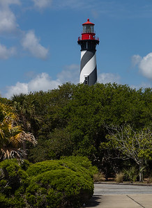 """St. Augustine was the site of the first lighthouse established in Florida by the new, territorial, American Government in 1824. According to some archival records and maps, this """"official"""" American lighthouse was placed on the site of an earlier watchtower built by the Spanish as early as the late 16th century.  The St. Augustine Light Station is a private-aid to navigation and an active, working lighthouse in St. Augustine, Florida. The current lighthouse stands at the north end of Anastasia Island and was built between 1871 and 1874. Wikipedia"""
