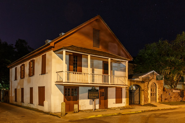 """The Tovar """"Canonball"""" house is one of a very limited of St. Augustine's remaining First  Spanish Period houses."""