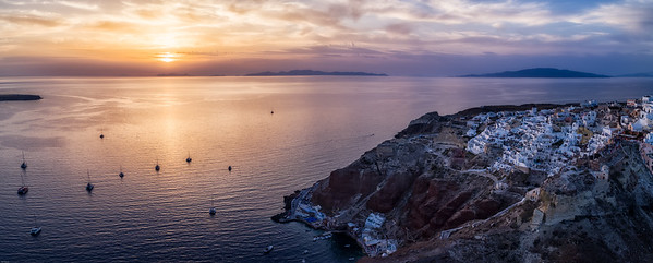 Sunset in Oia from Above