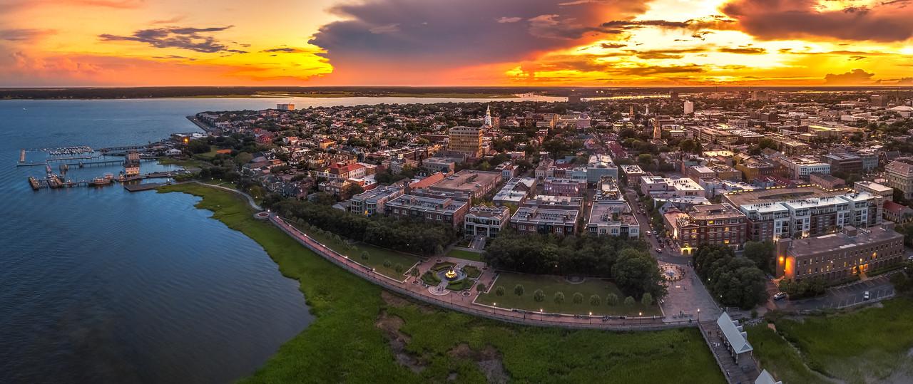 Charleston by drone