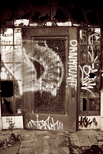A door on Whiskey Row, Louisville, KY