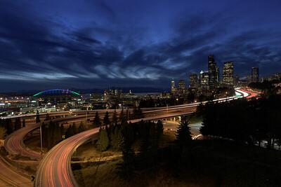 Swoosh | Seattle at Night
