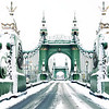 Hammersmith Bridge in the Snow
