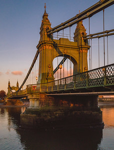 Hammersmith Bridge Evening Sunlight