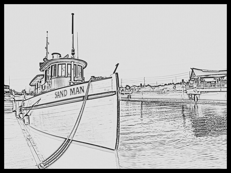 The Tug - SAND MAN. Percival Landing, Olympia Harbor| Ron Jones © 2018