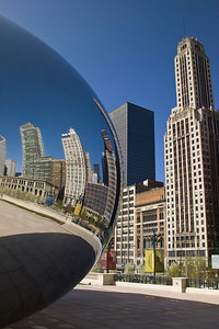 Reflections of Chicago in Millennium park