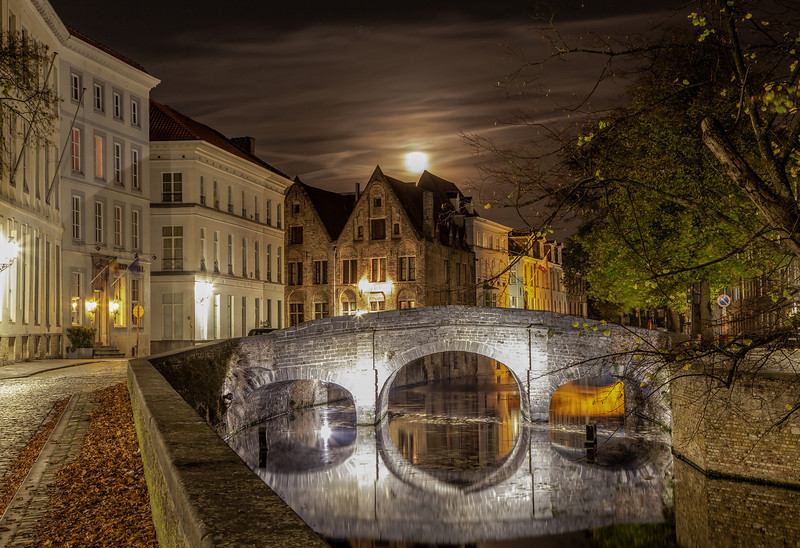 Moon Rise Over Brugge  Brugge, Belgium