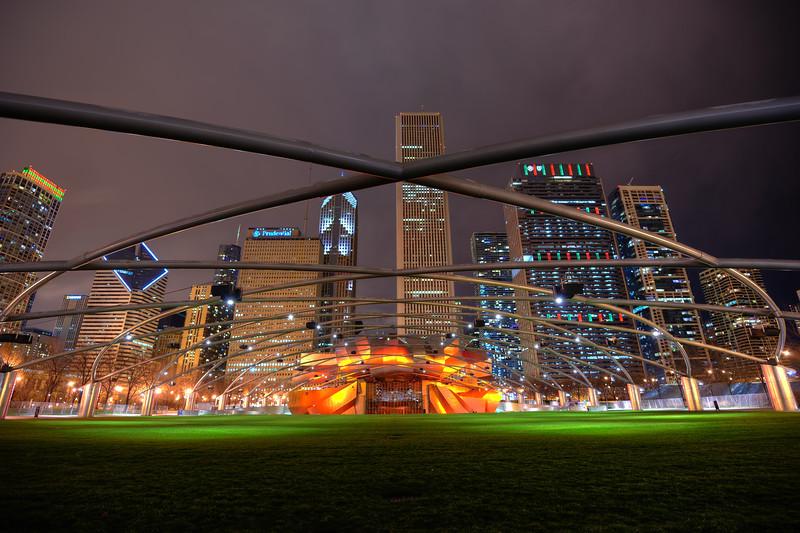 Millenium Park at night