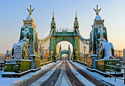 Hammersmith Bridge in the Snow 2018
