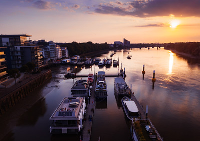 Houseboats on the Thames, Wandsworth
