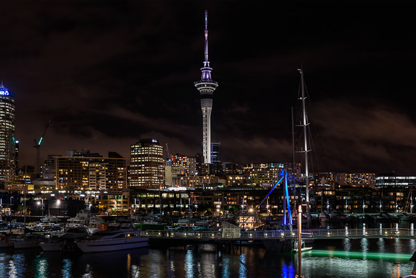 Auckland Tower from the harbour