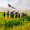 Confederates Advancing Across a Ditch