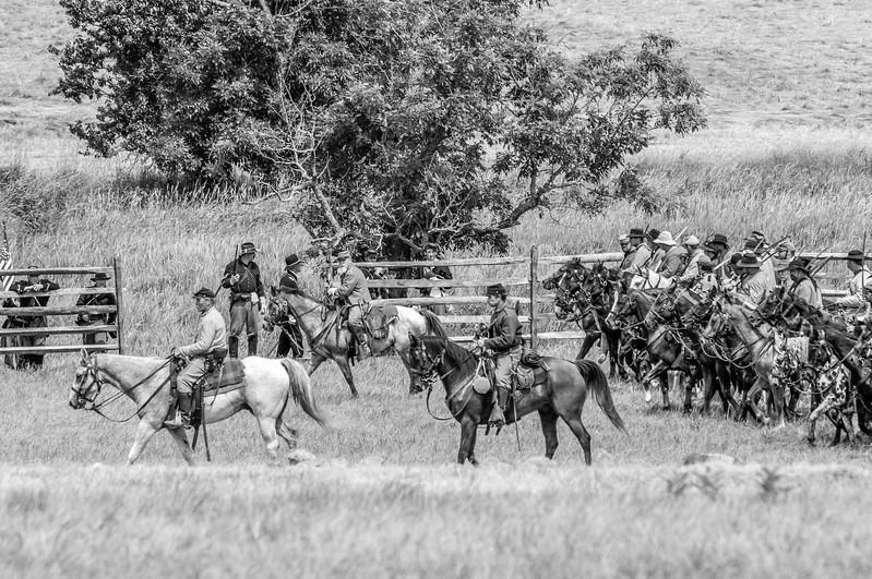 Mounted Confederate Cavalry on the Move