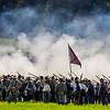 Confederates Fire into the Union Lines
