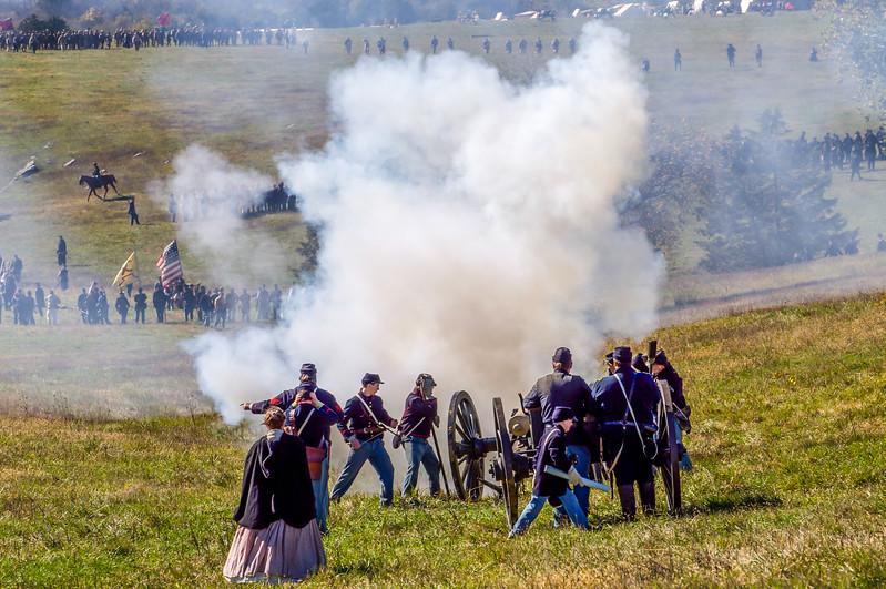 Federal Artillery Fire