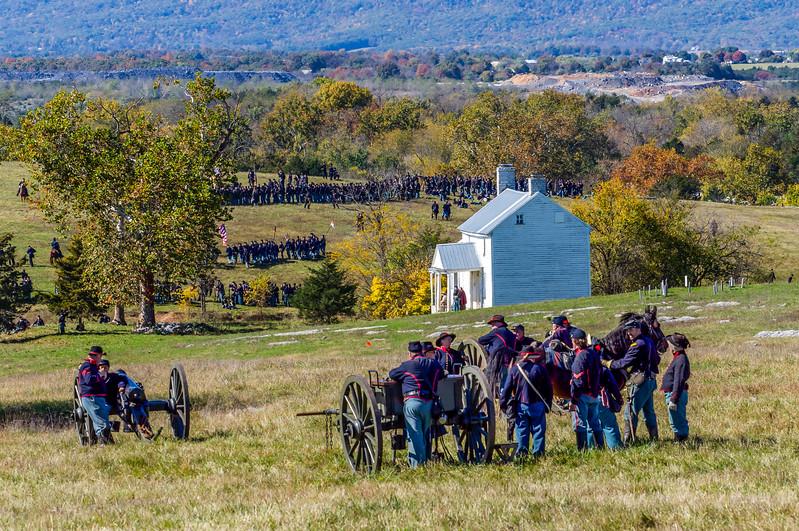 Union Troops & Artillery