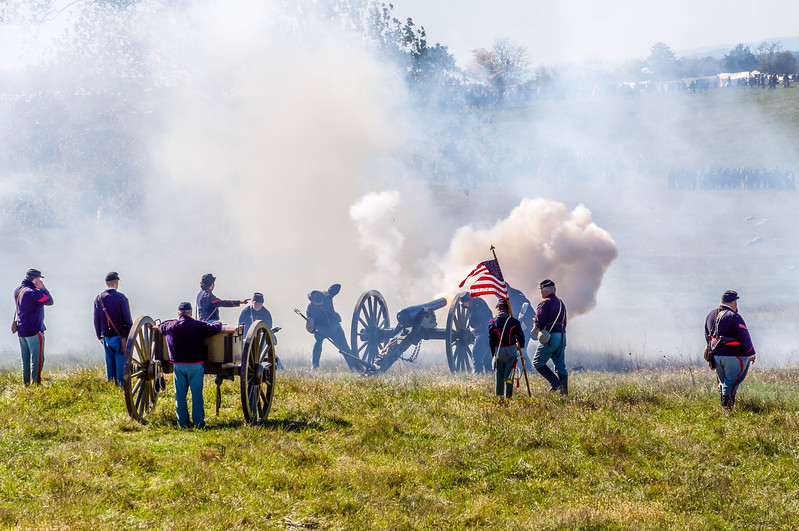 Union Artillery Fire