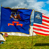 Union Regimental Flags at Camp