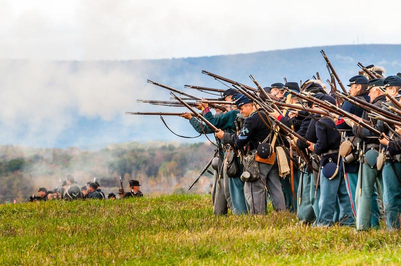 Union Troops Firing