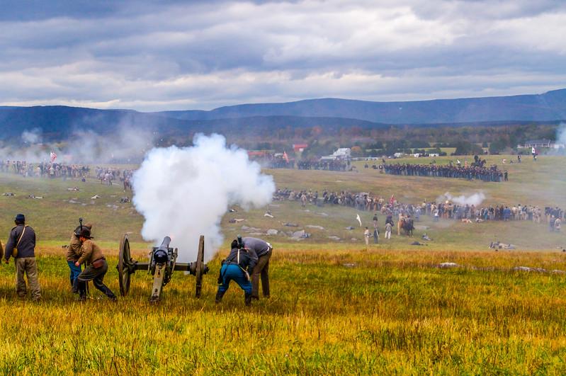 Confederate Cannon Fire
