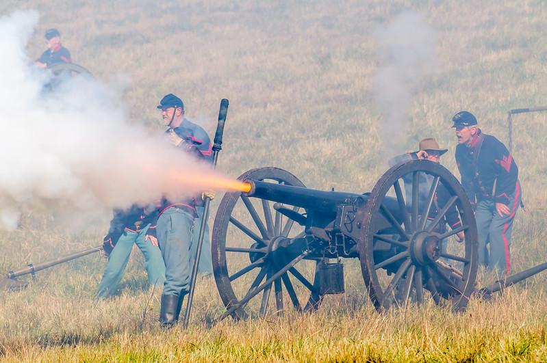 Union Artillery Fire