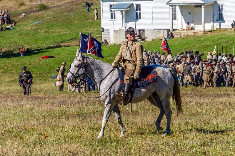 Confederate on Horseback