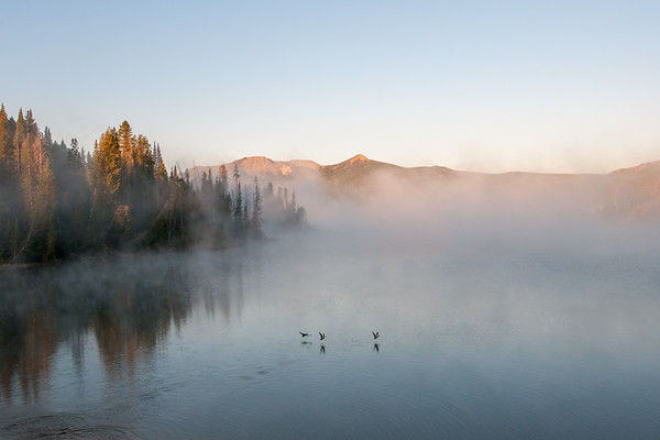 Steamboat Lake Morning Fog