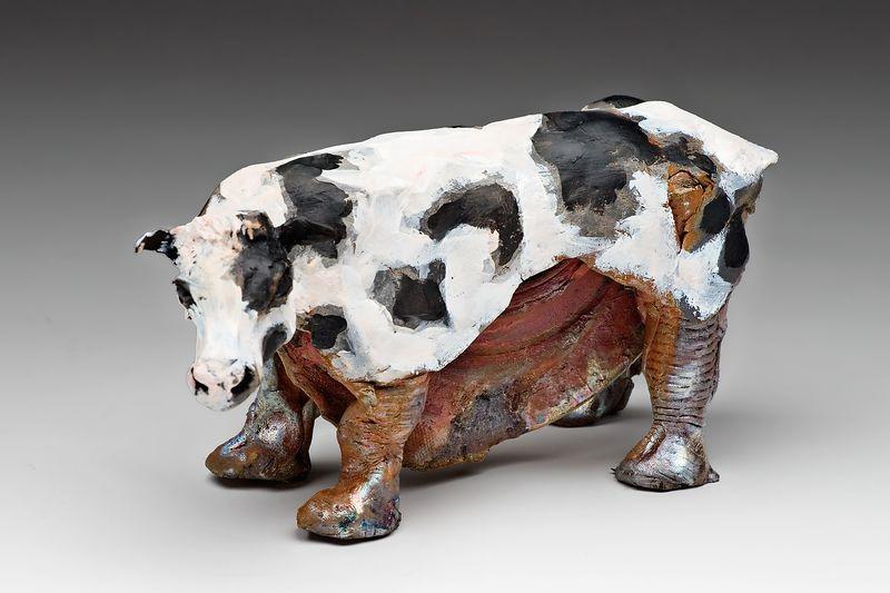 "Cow 4"" X 6"" $110"