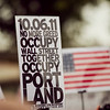 Occupy Portland movement in Portland Oregon.
