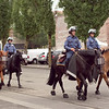 Riot horses at the Occupy Portland movement in Portland Oregon.