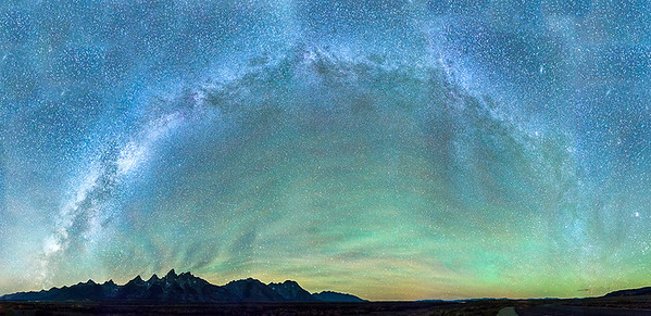 The Milky Way Over the Grand Tetons, AtlantiCare Mainland