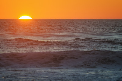 Last Light Over the Ocean